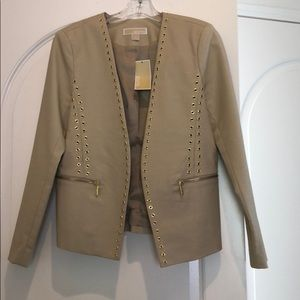 New NWT Michael Kors Cream suit jacket